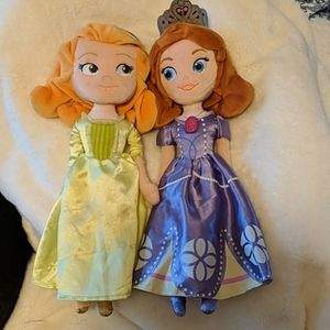 Disney 16 in plush Sofia the first and Amber set